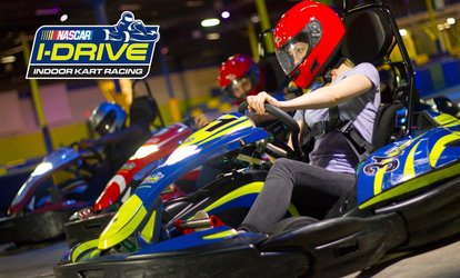image for Indoor Go-Kart Racing Package for One, Two, or Four at I-Drive NASCAR Indoor Kart Racing (Up to 45% Off)