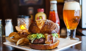 Cloverleaf Tavern: Burgers and Pub-Style Dinner Cuisine for Two or Four at Cloverleaf Tavern (Up to 42% Off)