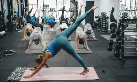 OneMonth Unlimited Yoga & Pilates Classes for One $19 or Two People $35 at One Five Six Fitness Up to $152 Value