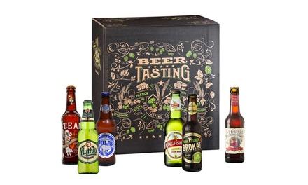 Coffret Box de dégustation 24 Bières internationales KALEA verre inclus, livraison offerte