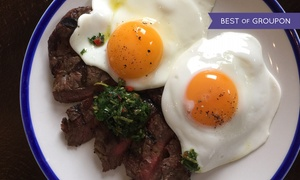 28 West Bar & Grill: Brunch with Hot Drink and Glass of Prosecco or Free-Flowing Prosecco at 28 West Bar & Grill (Up to 53% Off*)