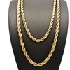English Rope Chain Necklace in 14K Gold Plating