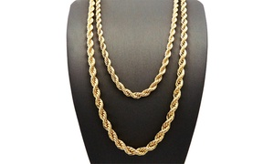 English Rope Chain Necklace in 14K Gold Plating at English Rope Chain Necklace in 14K Gold Plating, plus 9.0% Cash Back from Ebates.
