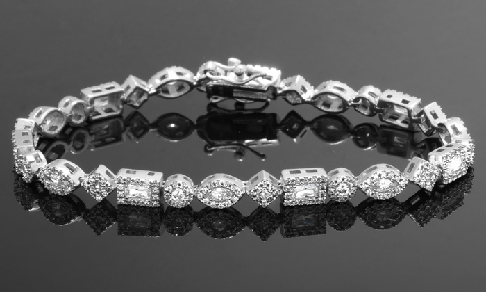 46649295a469 Multi-Shaped Tennis Bracelet Made with Swarovski Elements