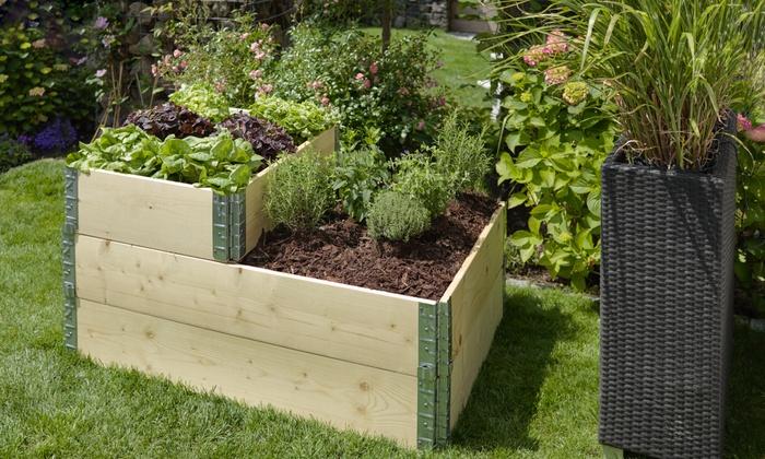 verhoogde plantenbedden groupon goods. Black Bedroom Furniture Sets. Home Design Ideas