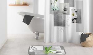 Tapis et rideau de douche