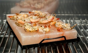 Himalayan Salt 8x12 Cooking Block with Carrier Tray