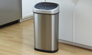 Nine Stars 13.2-Gallon Stainless Steel Touch-Free Sensor Trash Can