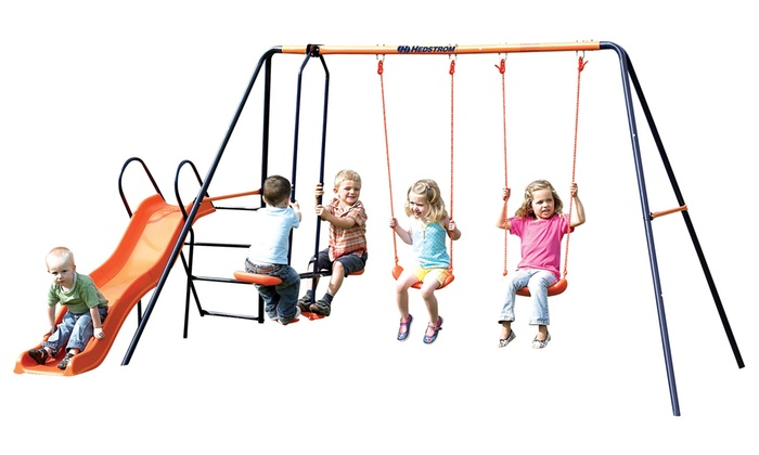 Groupon Goods Global GmbH: Hedstrom Europa Double Swing, Glider and Slide Combination Set With Free Delivery