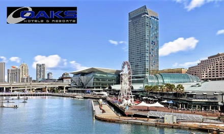 Darling Harbour, Sydney: Up to 3-Night CBD Stay for Two People with Brekky and Wi-Fi at 4.5* Oaks Goldsbrough Apartments