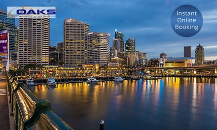 Darling Harbour: 2 or 3Night CBD Apartment Stay for Two People at 4.5Star Oaks Goldsbrough Apartments