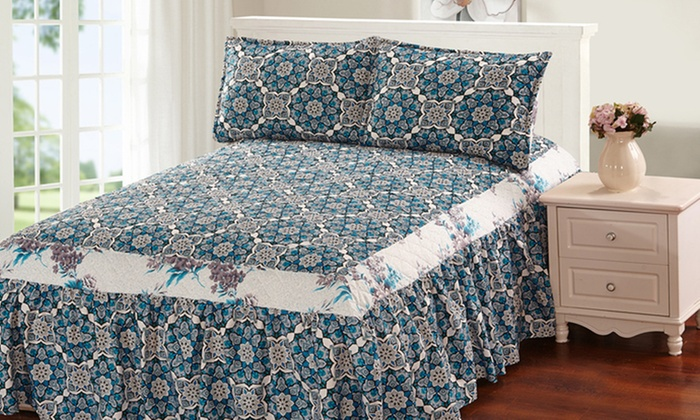 Up To 27 Off On Bedspread Set 3 Piece Groupon Goods