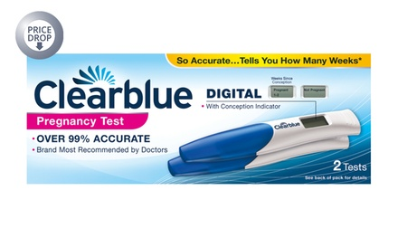 Clearblue Digital Pregnancy Test Kit with Conception Indicator for £7.99 (43% Off)