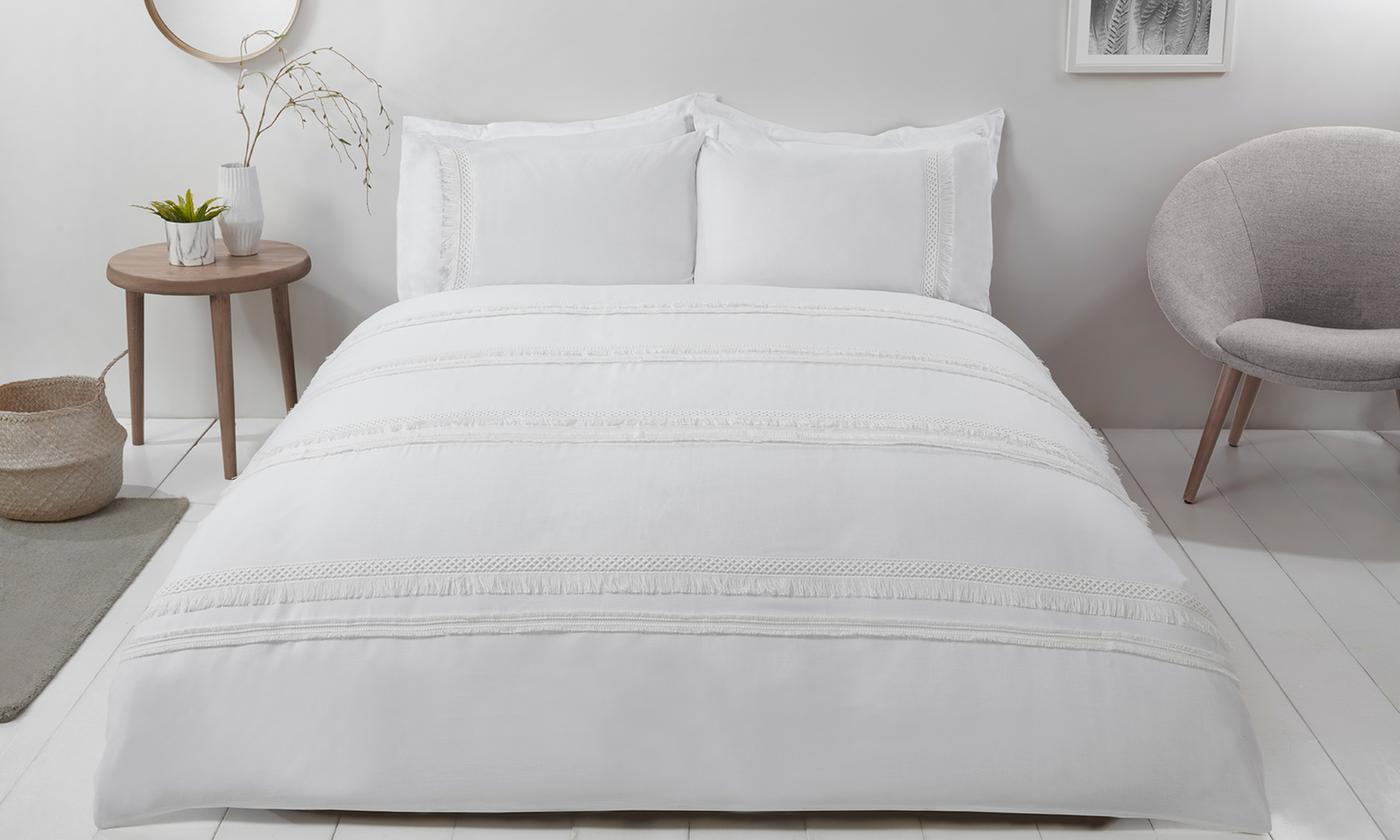 Pieridae Fringe Layered Duvet Set for £17