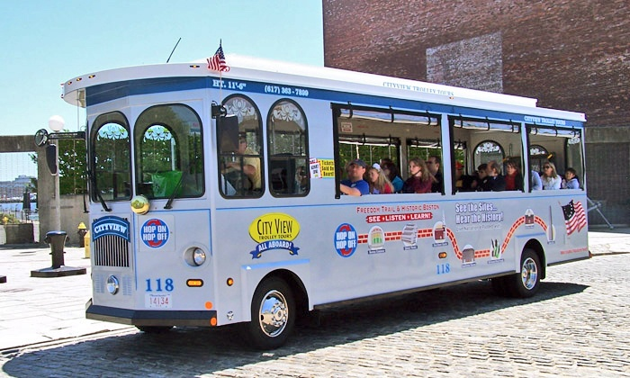 Cityview Trolley Tours - Boston: Trolley Tour and Harbor Cruise for One, Two, or Four from CityView Trolley Tours (Up to 49% Off)