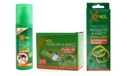 Three Xpel Mosquito and Insect Repellent Pump Sprays or One or Two Xpel Mosquito and Insect Repellent Sets