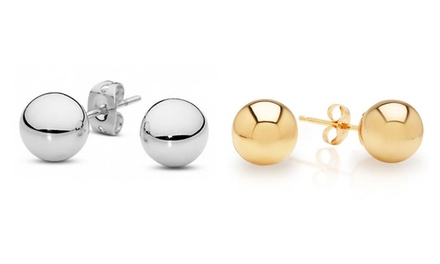 Solid 14K White or Yellow Gold Ball Stud Earrings from $19.99–$46.99