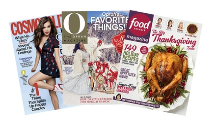One-Year Subscription to Cosmopolitan, O, The Oprah Magazine or Food Network Magazine (Up to67% Off)