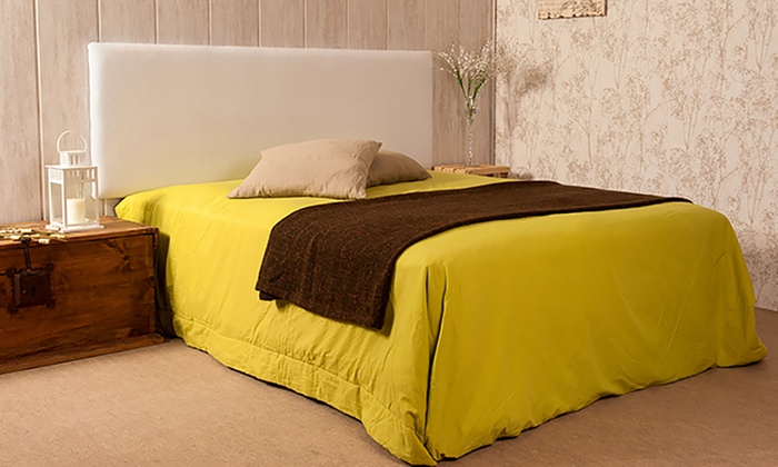 Cabecero para cama de piel groupon goods - Cabeceros de cama tapizados en piel ...