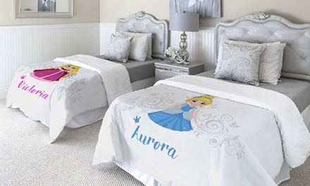 One or Two Plush Custom Princess Blankets from Printerpix (Up to 93%). Eight Options Available.