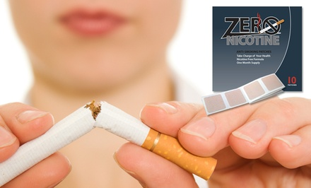 1-Month Supply of Zero Nicotine Anti-Smoking Patches