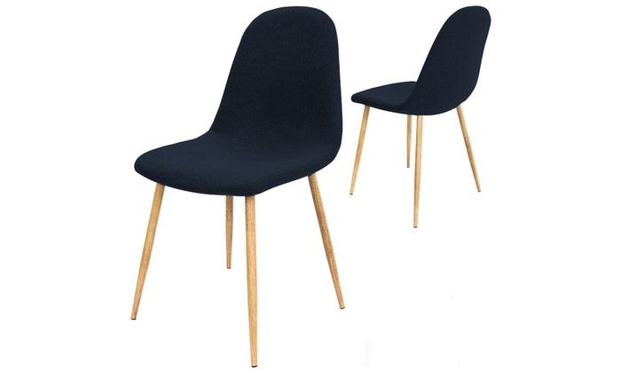 4 designer st hle mit stoffbezug groupon goods. Black Bedroom Furniture Sets. Home Design Ideas