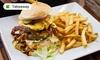 Burger mit Pommes frites o. Salat