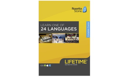 1 Language from a Choice of 24: 1-Year, 2-Year, or Lifetime Subscriptions from Rosetta Stone (Up to 39% Off)