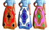 Women's Dashiki Print Authentic African Wax High-Waist Skirts