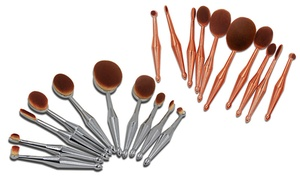 Metallic Oval Brush Set (10-Piece)