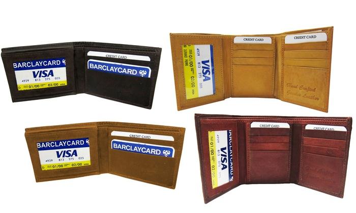 Genuine Leather Bi-Fold and Tri-Fold Wallets