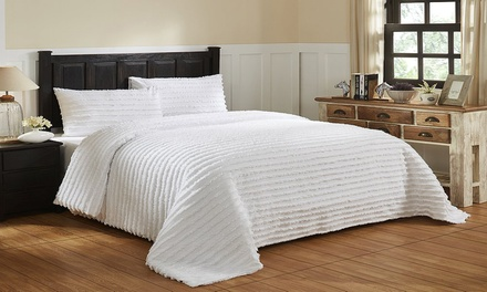Renee Taylor Helena 250TC Cotton Tufted Quilt Cover Set: Queen $49, King $59 or Super King $69
