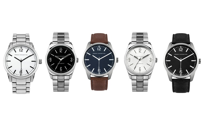 Groupon Goods Global GmbH: French Connection Men's Watch from €27.99 With Free Delivery (Up to 45% Off)