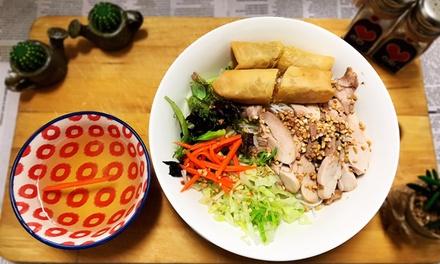 Chicken Noodle Salad + Soft Drink, Hot Tea or Miso Soup $11 or 2 Ppl $21 at Saigonese Cafe Up to $32 Value