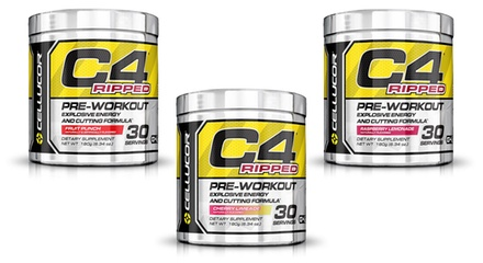 C4 Ripped Pre-Workout Supplement (30-Servings) | Groupon
