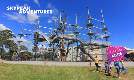 Three Ultimate BungeeZip Jumps Child $15, Adult $19 or Family $69 at Skypeak Adventures Up to $121 Value
