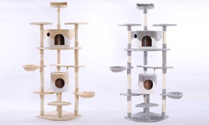 kratzbaum f r katzen groupon. Black Bedroom Furniture Sets. Home Design Ideas