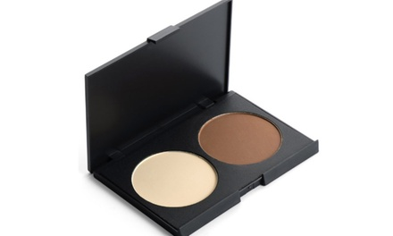 Two-Color Makeup Palette in White and Beige