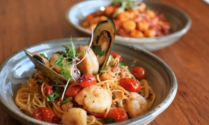 Short Black Cafe: Two-Course Italian Dinner with Prosecco for Two ($39) or Four People ($78) at Short Black Cafe (Up to $208 Value)