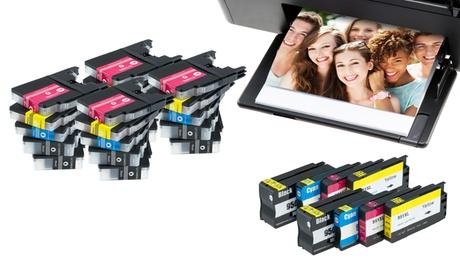 Packs de cartuchos de tinta compatibles con impresoras Brother, Canon, Epson y HP Oferta en Groupon