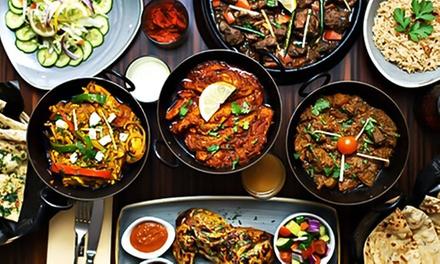 Menu complet avec entrée, plat et dessert au choix pour 2 personnes à 22 € au restaurant Les Portes De l'Inde