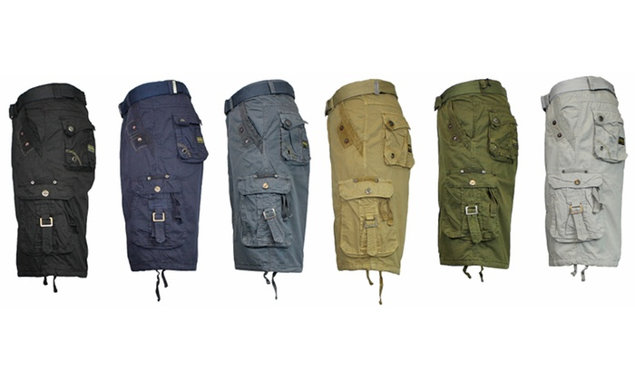 Men's Cargo Utility Shorts with Belt (Extended Sizes Only)