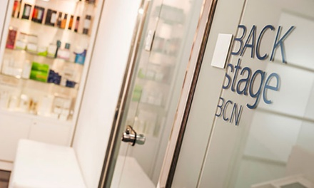 Sesión de peluquería Deluxe con corte, tratamiento Shiseido con opción a queratina desde 49 € en Backstage BCN