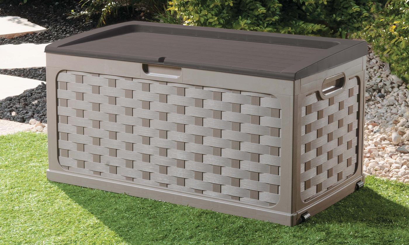 Starplast Rattan-Effect Garden Storage Box in Choice of Colour (£49.99)
