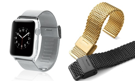 iPM Stainless Steel Mesh Milanese Loop Band for Apple Watch 38mm or 42mm