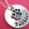 Up to 50% Off Personalized Sterling Silver Paw Print Necklace