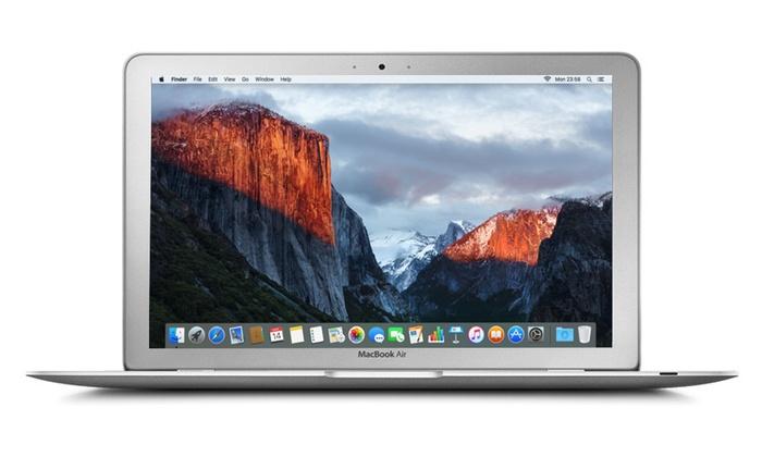Apple MacBook Air 11.6 Core i5 reconditionn 60 GHz 4GO RAM 128Go SSD El Capitan EU Plug à 539€ livraison offerte