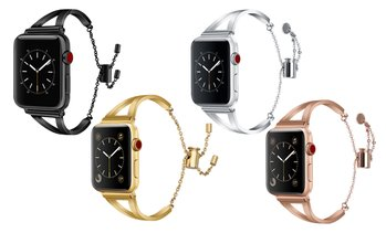 Bracelet Stainless Steel Cuff Band for Apple Watch Series 1,2,3, 4 & 5