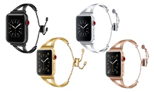 Bracelet Stainless Steel Cuff Band for Apple Watch Series 1, 2, 3, & 4