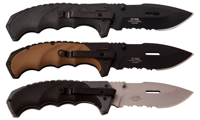 Up To 26% Off on USMC Spring Assisted Knife | Groupon Goods